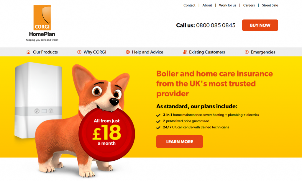 Conversion rate case study: the original homepage design