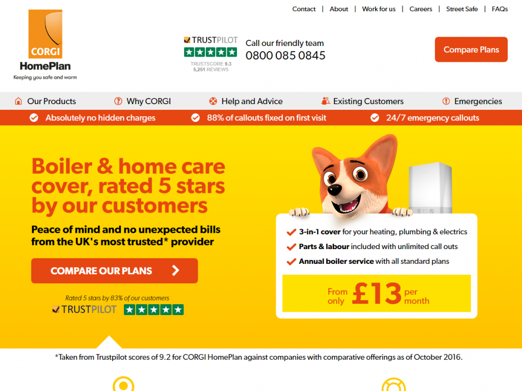 Conversion rate case study: The homepage with many of our winning tests
